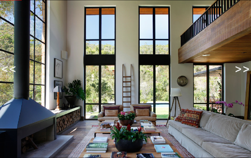 Bright twostory great room in a contemporary House in