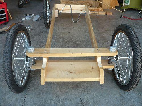 Plywood Pedal Car Tretauto Holzfahrrad Diy Elektroauto