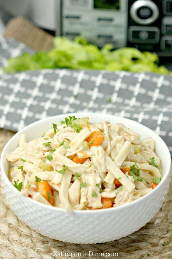 crockpot chicken noodle soup  recipe  chicken noodle