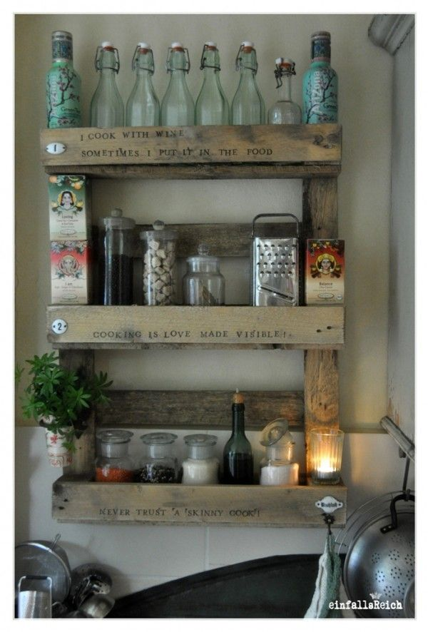 Alles Paletti Pallets And Crates Kitchen Shelves