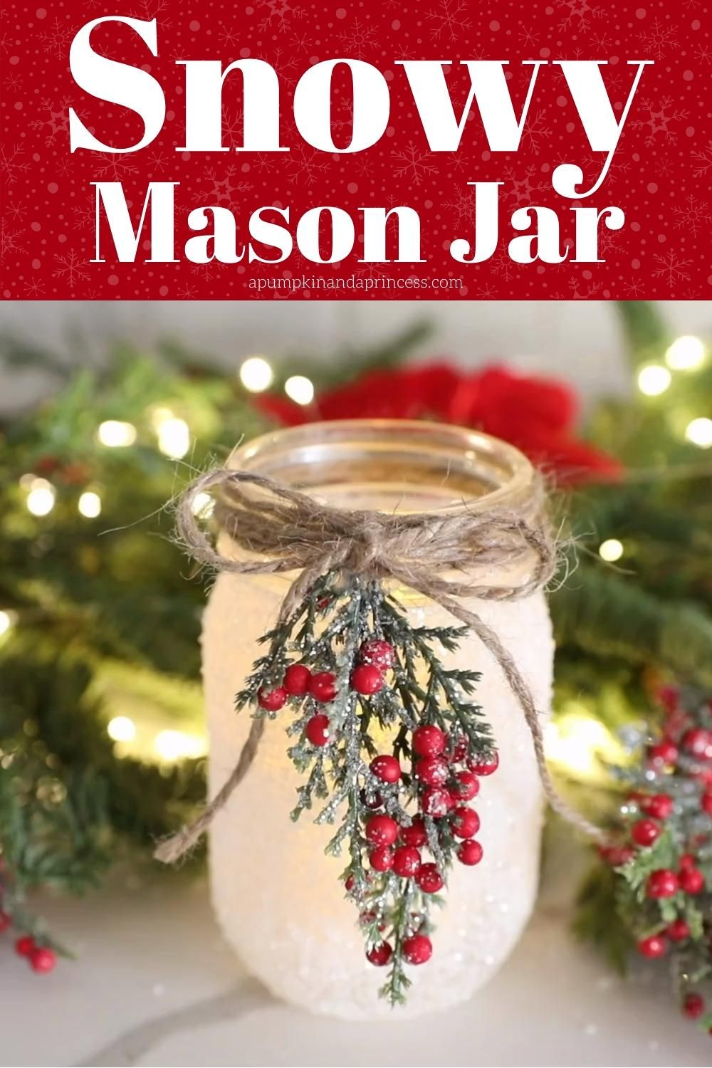 Photo of SNOWY MASON JAR