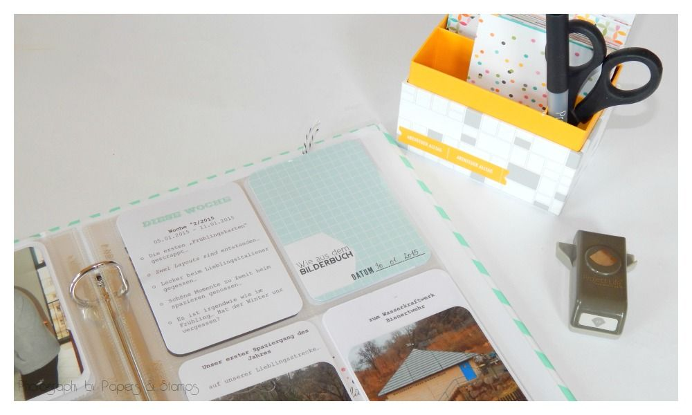 {Project Life 2/2015} - Woche 2... - Papers & Stamps #plxsu #pl2015 #pl #projectlife #stampinup #abenteueralltag #projectlife2015