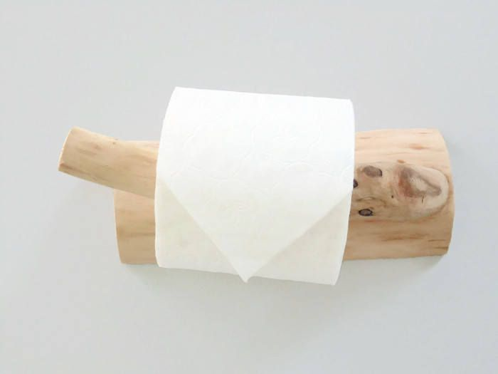 Derouleur Devidoir Papier Toilette En Bois Flotte Creation Toilet Paper Holder Paper Dispenser Toilet Paper