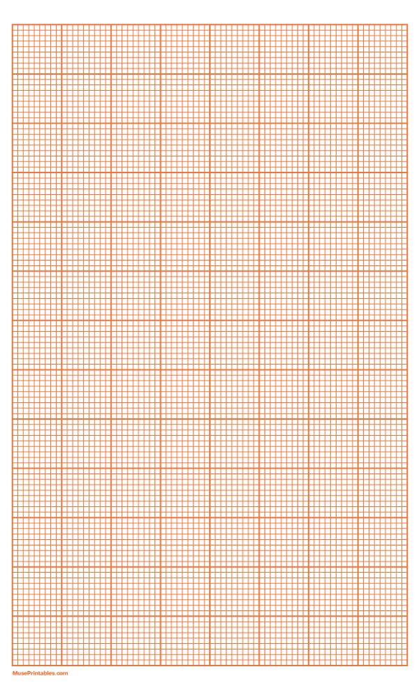 Printable 9 Squares Per Inch Orange Graph Paper For Legal Paper Free Download At Https Museprintables Graph Paper Printable Graph Paper Grid Paper Printable