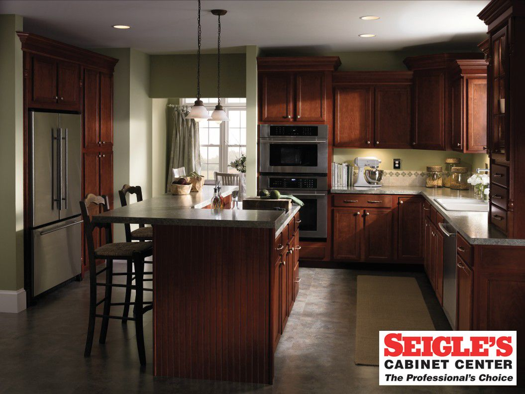 Aristocraft Cabinets At Seigles Cabinets Cherry Cabinets Kitchen Cherry Kitchen Cherry Kitchen Cabinets Granite
