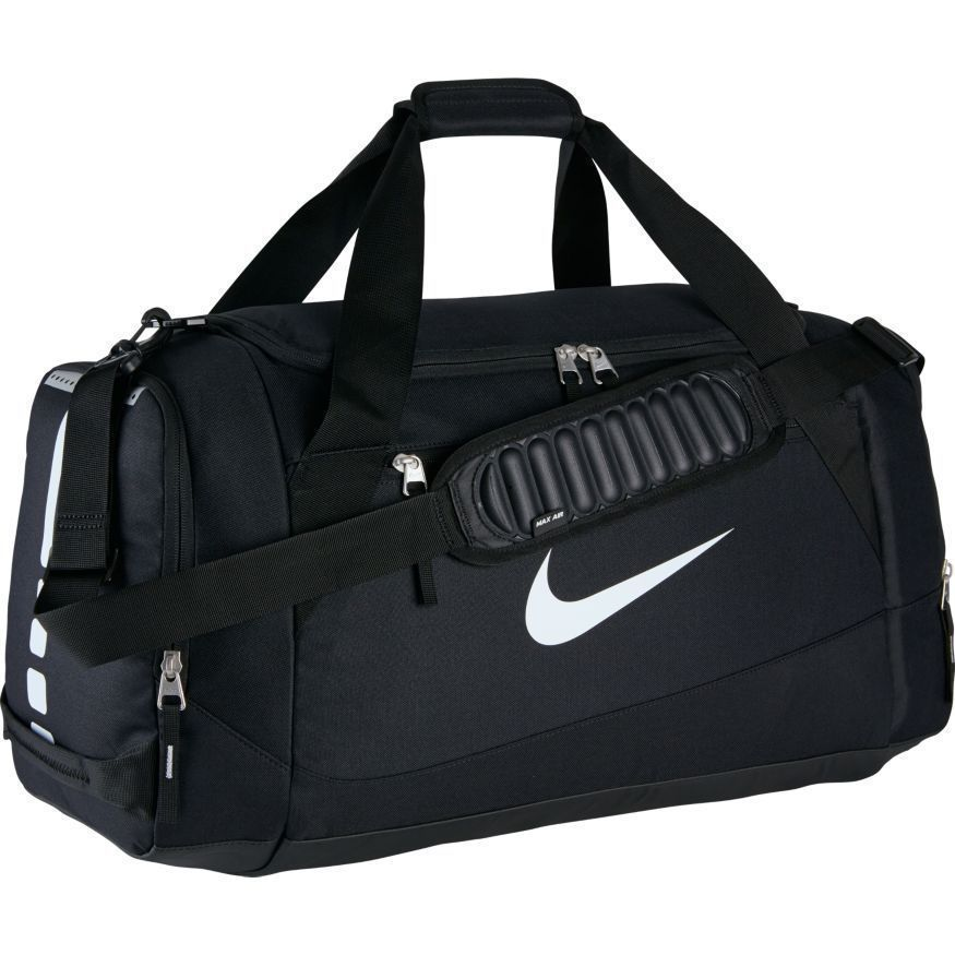 Nike Hoops Elite Max Air Large Duffel Bag Ba4881 001 Black White Gym Basketball Mens Gym Bag Nike Duffle Bag Nike Bags
