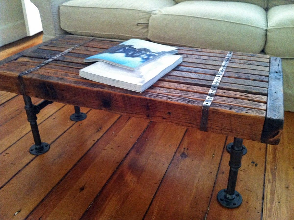 Metal And Wood Kitchen Table So A Kitchen Table With Metal Bands Wrapped Around Sort Of Like