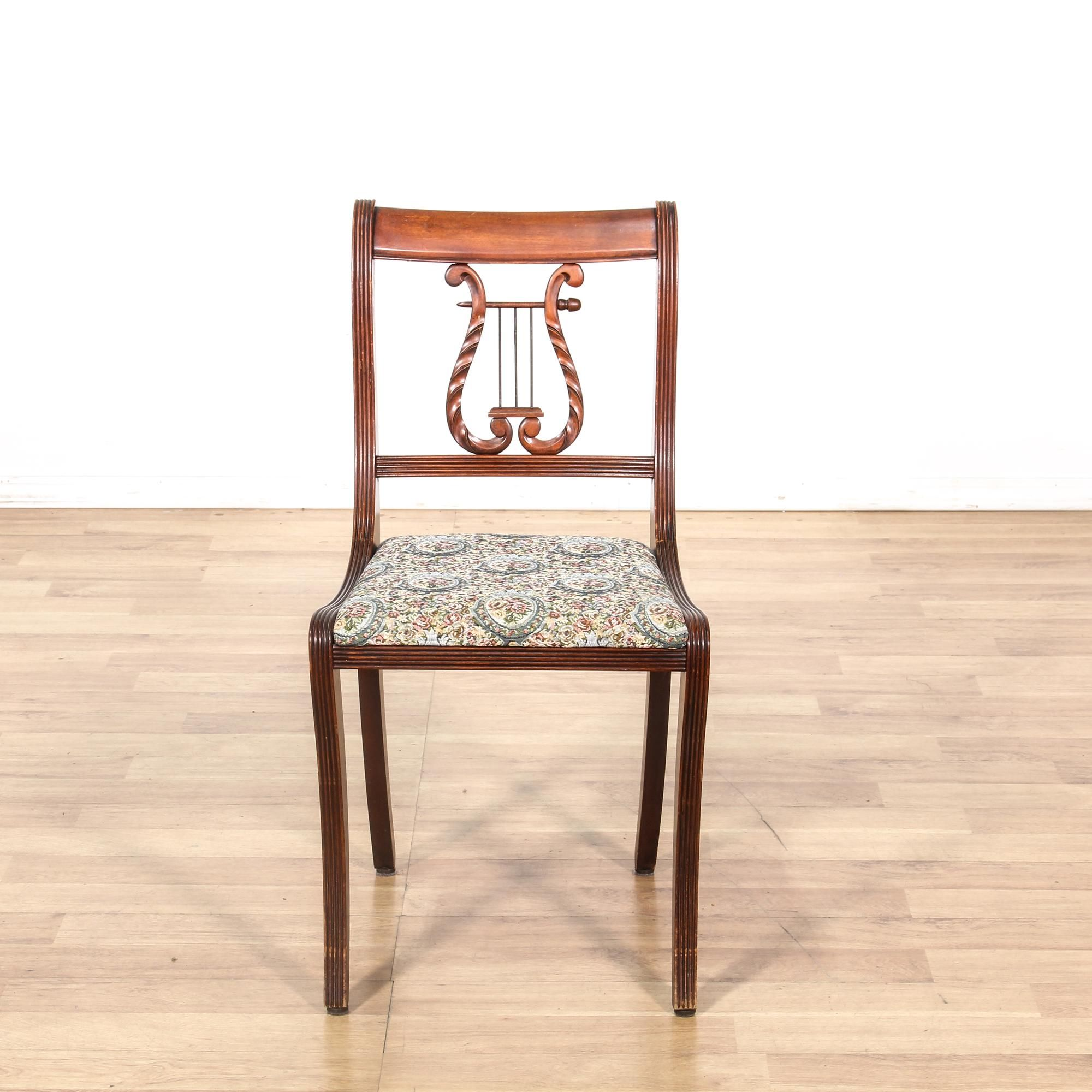Furniture Legs San Diego lyre back upholstered side chair | side chair, solid wood and