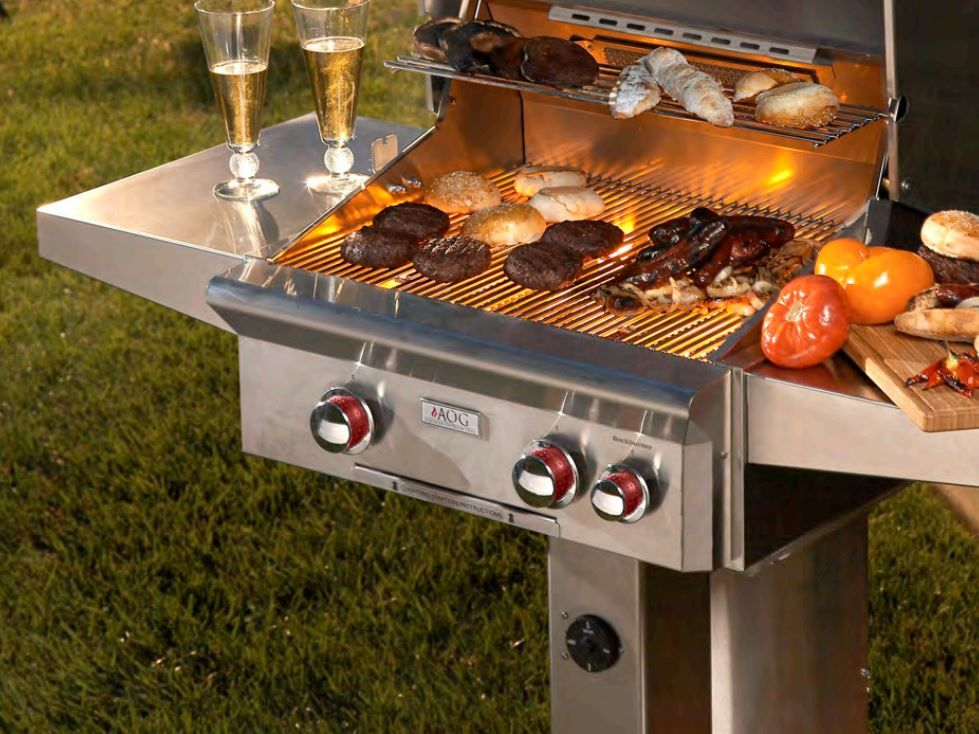 American Outdoor Grill T Series In Ground Post Mount Natural Gas Grill With 32 000 Btu S 432 Sq In Cook Outdoor Grill Outdoor Cooking Area Natural Gas Grill