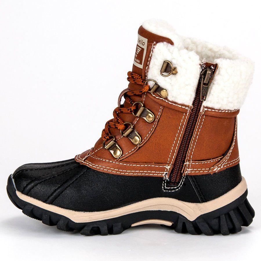 Kozaki Dla Dzieci Arrigobello Arrigo Bello Brazowe Ocieplane Obuwie Dzieciece Boots Winter Boot Shoes