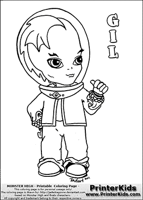 monster high gil baby cute chibi coloring page