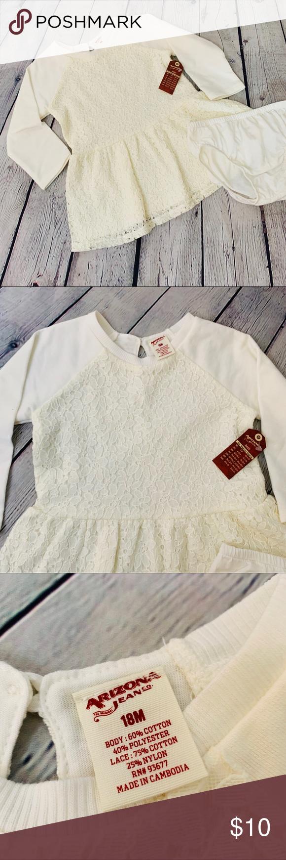 Arizona Jeans Co. NWT Cream Sweater Dress Sz18m NWT