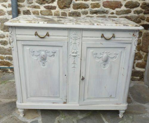 joli bahut du xix me style louis xvi rechampi marbre gris in art antiquit s meubles. Black Bedroom Furniture Sets. Home Design Ideas