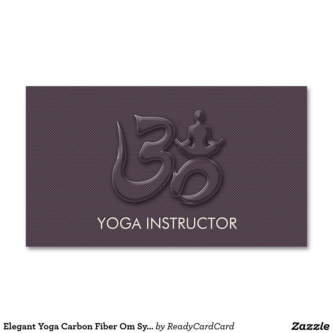 Elegant Yoga Carbon Fiber Om Symbol Business Card | YOGA ...