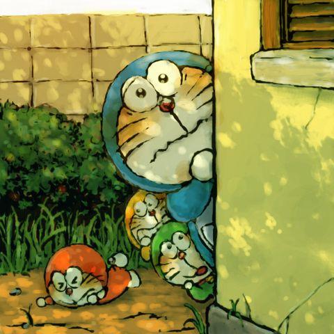 #ドラえもん かくれてないで - 一の庭のイラスト - pixiv