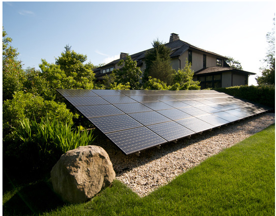 A Tasteful Ground Mount Solar With Landscaping Behind And Gravel Underneath Solar Panels Solar Panels Roof Solar House