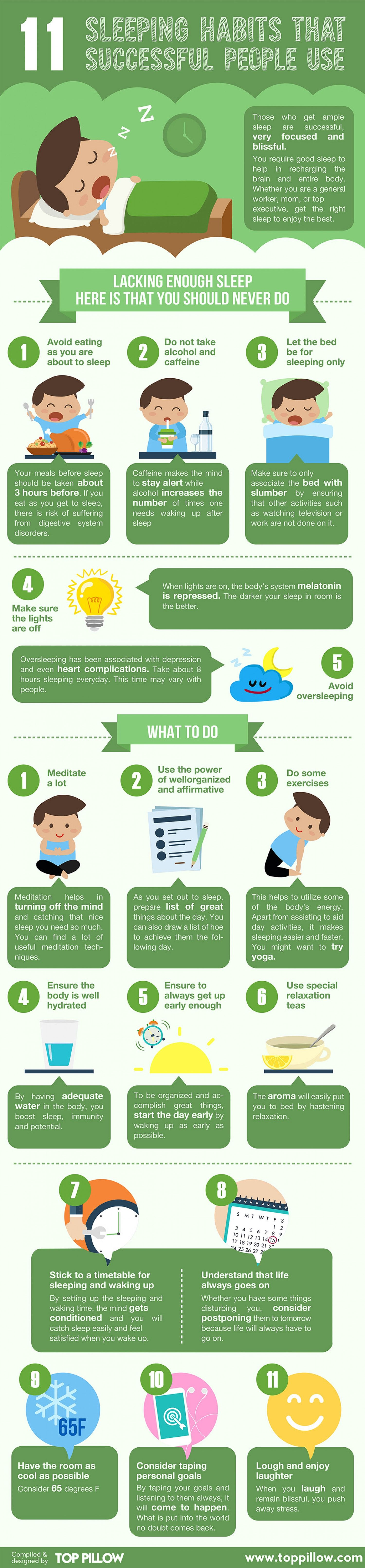 Infographic 11 Sleeping Habits Practiced By Successful