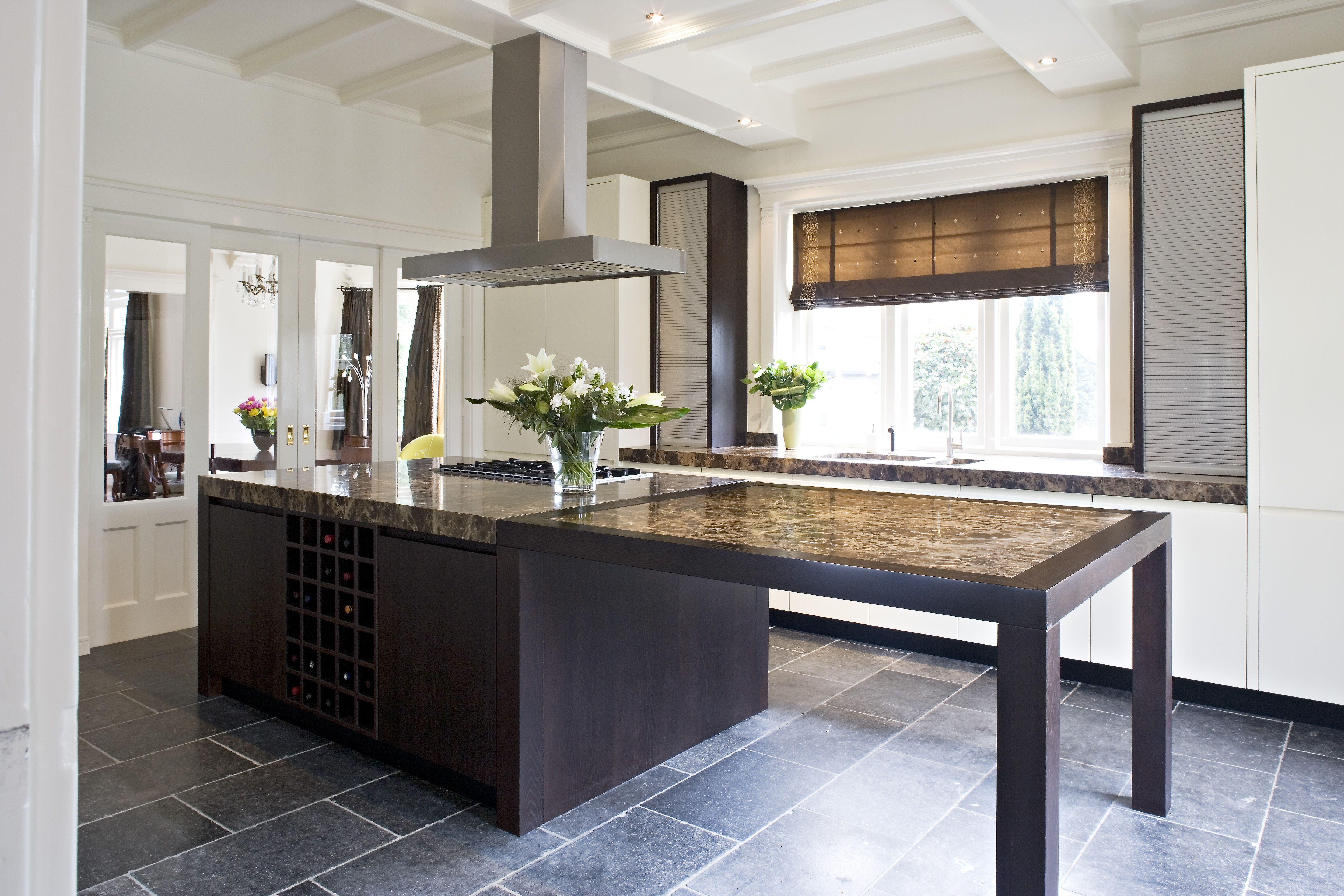 Afmetingen keukeneiland met tafel referenties op huis ontwerp