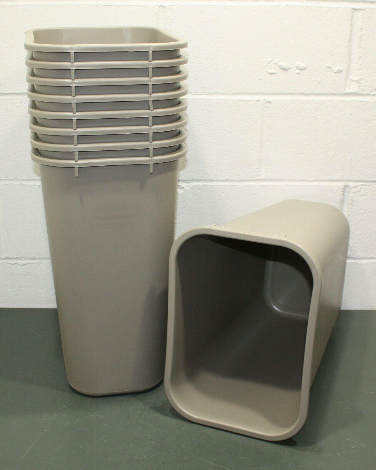 9 Rubbermaid 10 Gallon Trash Can 2957 Deskside Wastebasket Beige Plastic Trash Cans Ideas Of Trash Cans Trashcans With Images Waste Basket
