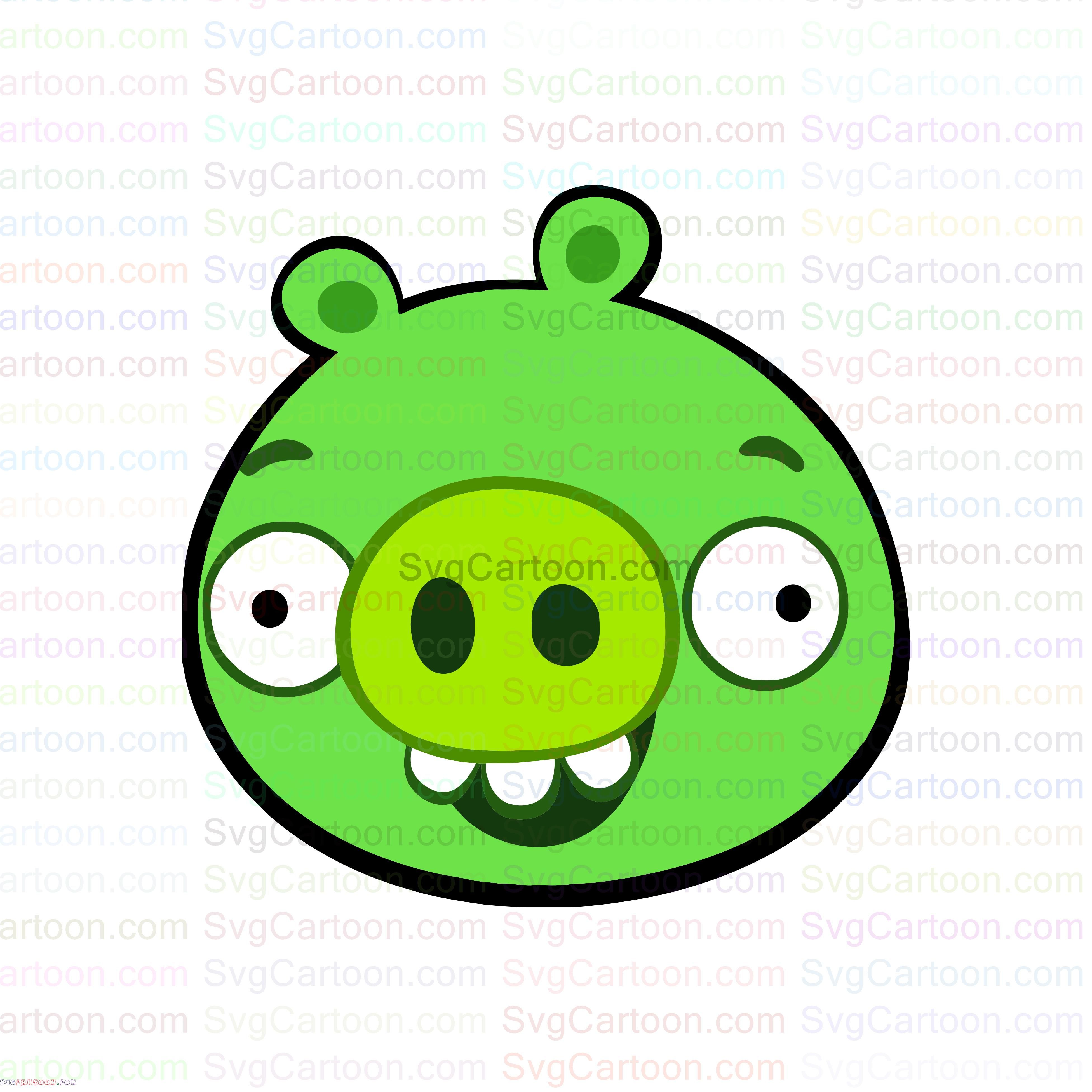 Minion Pig Face Smiley Angry Birds Svg Dxf Eps Pdf Png Pig Face Angry Birds Pigs Minions