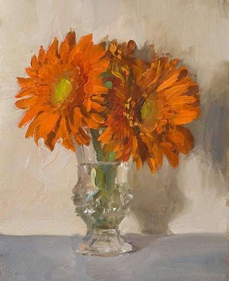 Louis' flowers A Daily painting by Julian Merrow-Smith