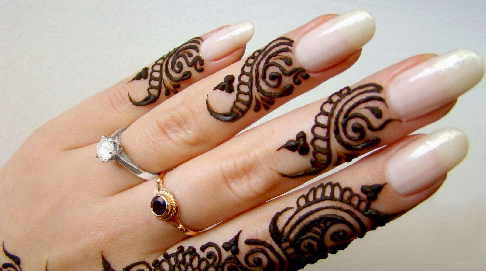 Mehndi Design For Nail