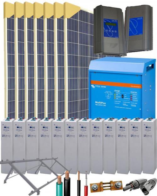 Kit Solar Fotovoltaico 5000w 24v 19200whdia Al Mejor Precio Alternative Energie Solar Energie