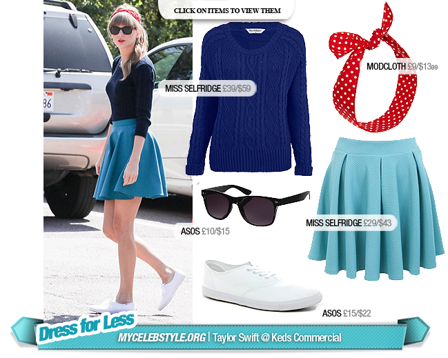 Dress for Less: Taylor Swift Keds Commerical - MyCelebStyle.org