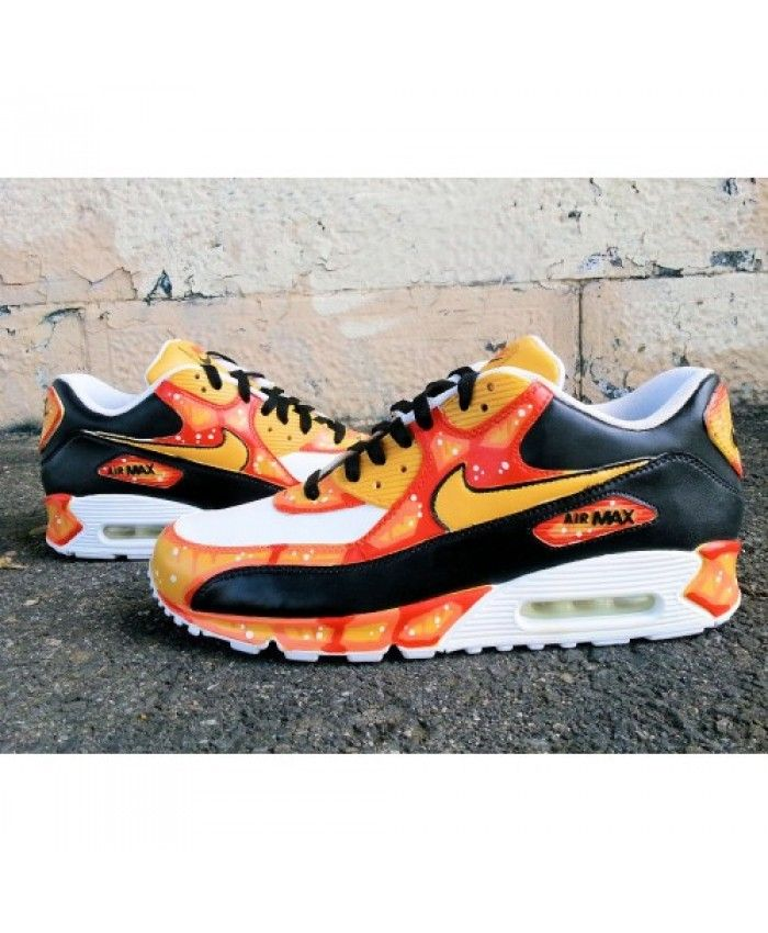 check out 1c7cb 69b9d Nike Air Max 90 Baltimore Orange Custom Sneakers Sell at a Discount ...