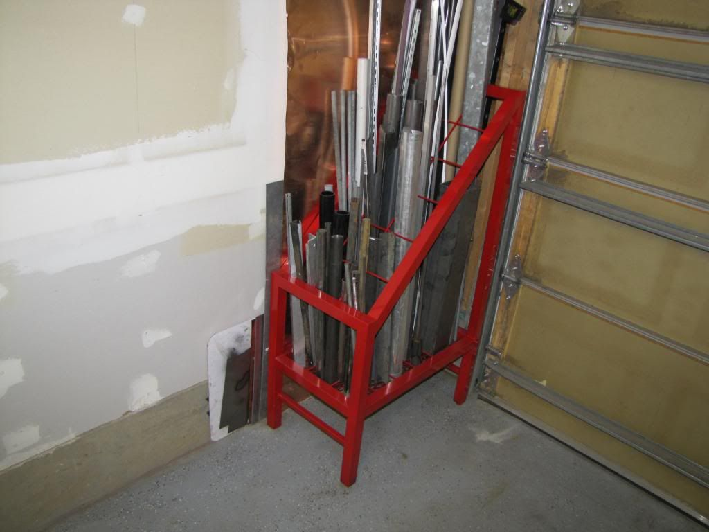 Tube Storage Page 2 Ofn Forums Welding Table Metal Storage