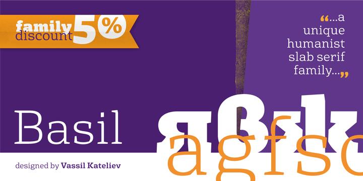 Font dňa – Basil (zľava 50%, rodina 23,50€) - http://detepe.sk/font-dna-basil-zlava-50-rodina-2350e/