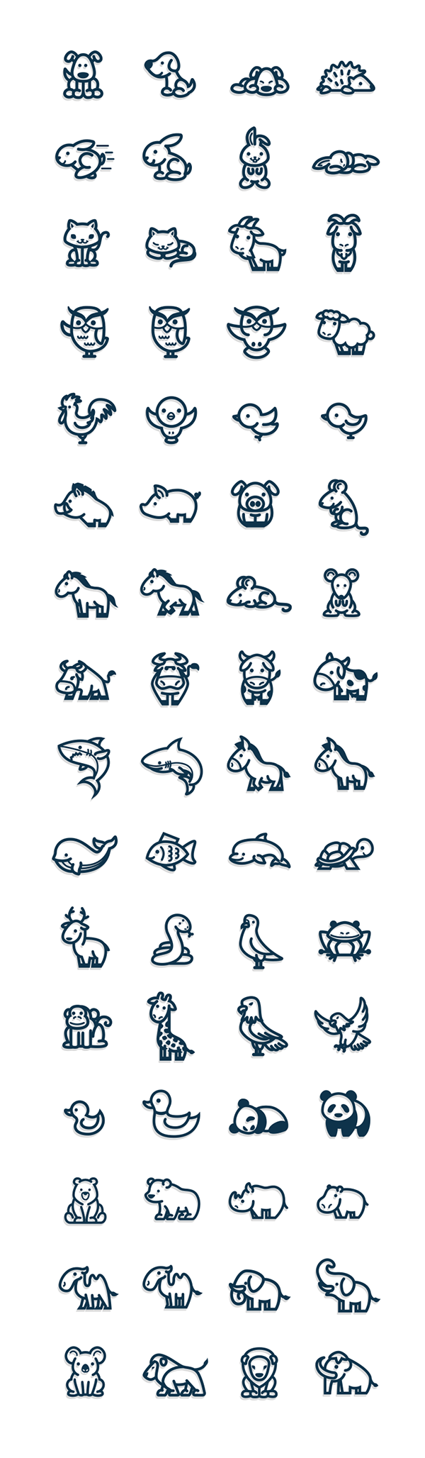 Cute And Simple Vectorial Animal Icons Milye Tatuirovki Tatuirovki Malenkie Tatuirovki