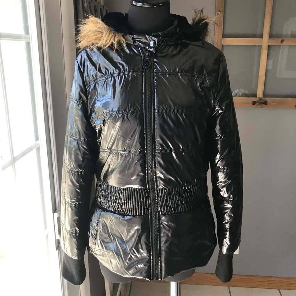 3aec236967 Details about Womens Ladies Quilted Winter Coat Puffer Fur Collar ...