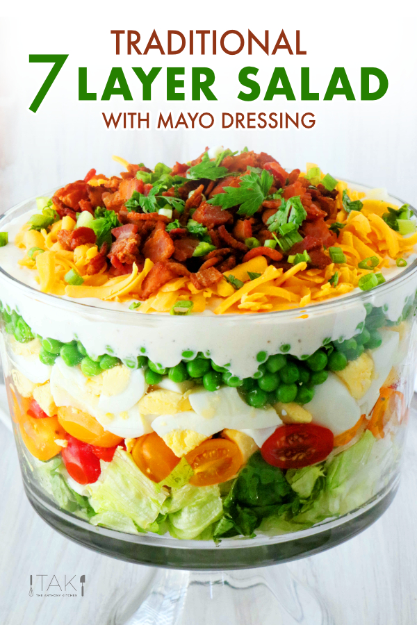 7 Layer Salad Recipe Recipe In 2020 Layered Salad Recipes Layered Salad Seven Layer Salad