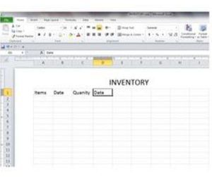 How to Create a Basic Inventory Spreadsheet With Excel ...