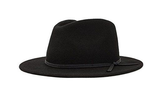 ef2315d282466 ... australia brixton mens coleman medium flat brim felt fedora hat review  d5797 35168