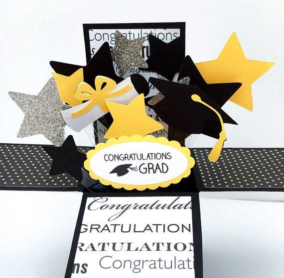 3d Graduation Card Graduation Pop Up Card Congratulations Grad Stars Cap And Diploma Expl Graduation Cards Handmade Pop Up Card Templates Gift Tag Cards