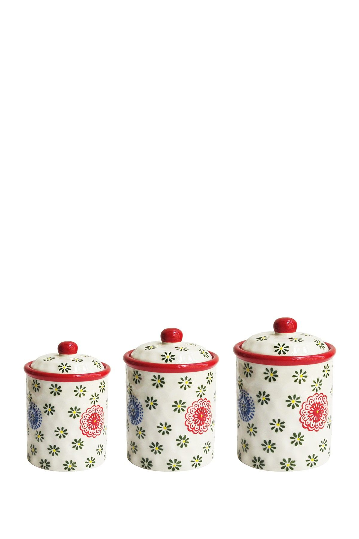 Tuscan old world drake design medium berry kitchen canisters set of 3 - Red Berries Canister Set Of 3 By Jay Import On Hautelook