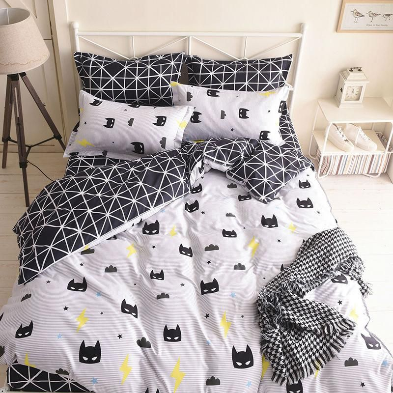 d709cdd616c8 Batman Mask Bedding Set Cartoon Quality Duvet Cover Bed Set Beddings Single  Full Queen King Size