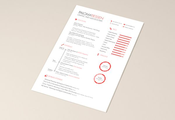 Cv Resume Template Free On Behance  Cv    Resume
