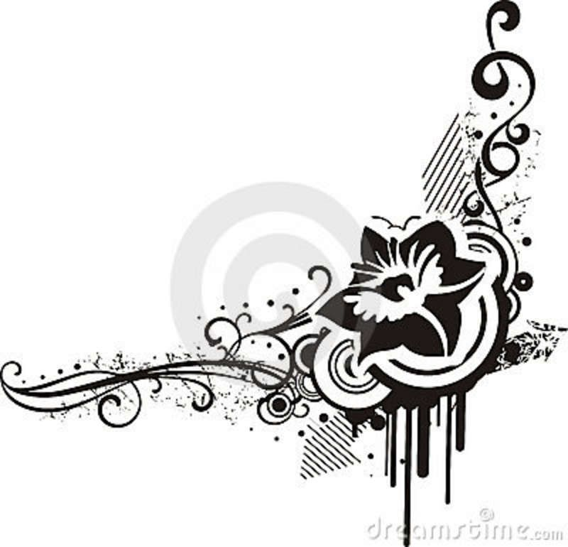 black & white floral designs stock photo - image: 4241980 | flower