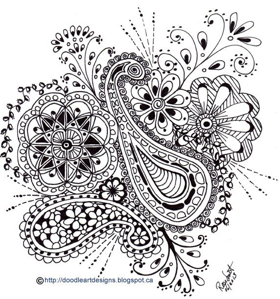 Paisley Pattern Colouring Sheets : Paisley coloring page coloring pages pinterest