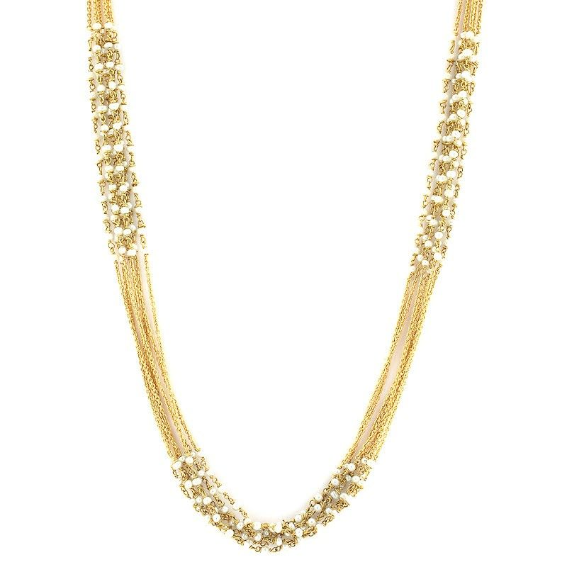 Chains | Five Strand Pearl Beads Chain | GRT Jewellers ...