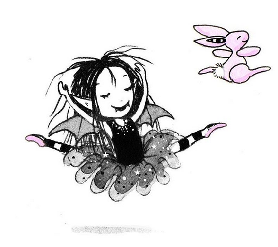 Isadora Moon Vampire Fairy By Harriet Muncaster Book Illustration Pink Halloween Drawings