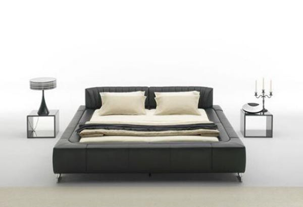 Leather Beds Sede Low Profile With Adjustable Headboard To Fit Your Needs