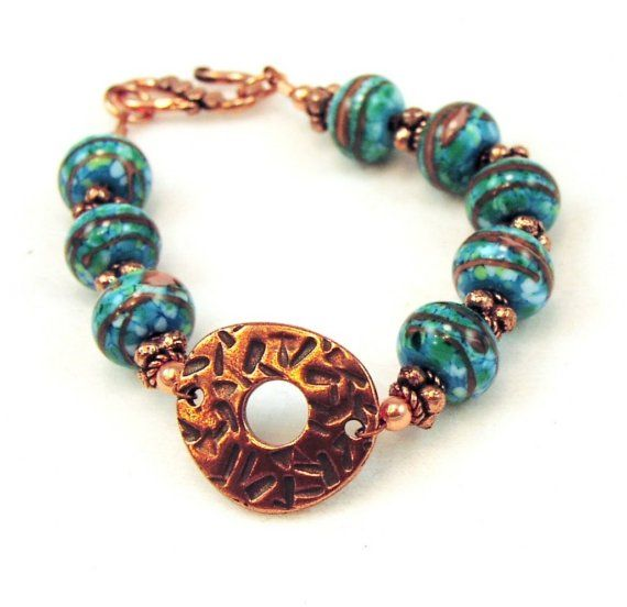 Turquoise and Copper BluesAntique Copper and by PaleFireDesigns, $56.00