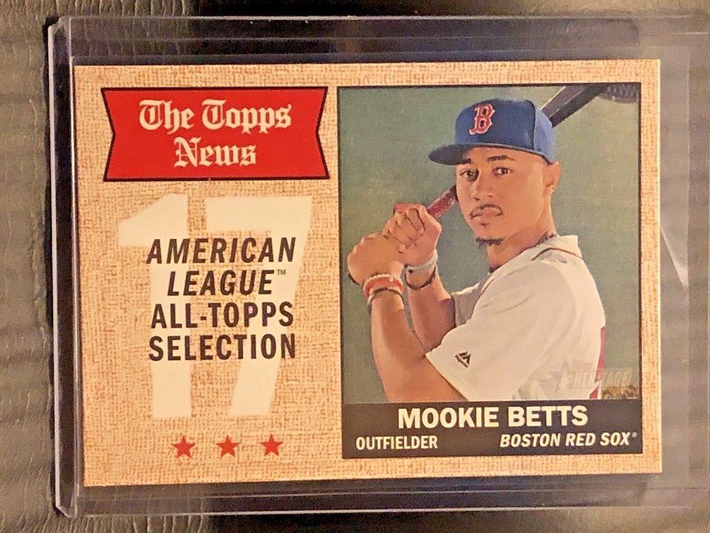 2017 Topps Heritage #362 Mookie Betts Boston Red Sox Baseball Card