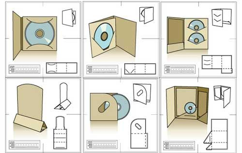 30 sets of free vector packaging design templates cds pack