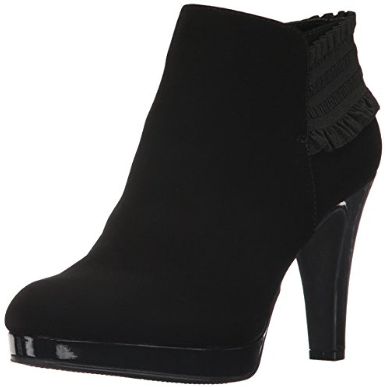 Women's Part Film Platform Heeled Bootie Fashion Boot