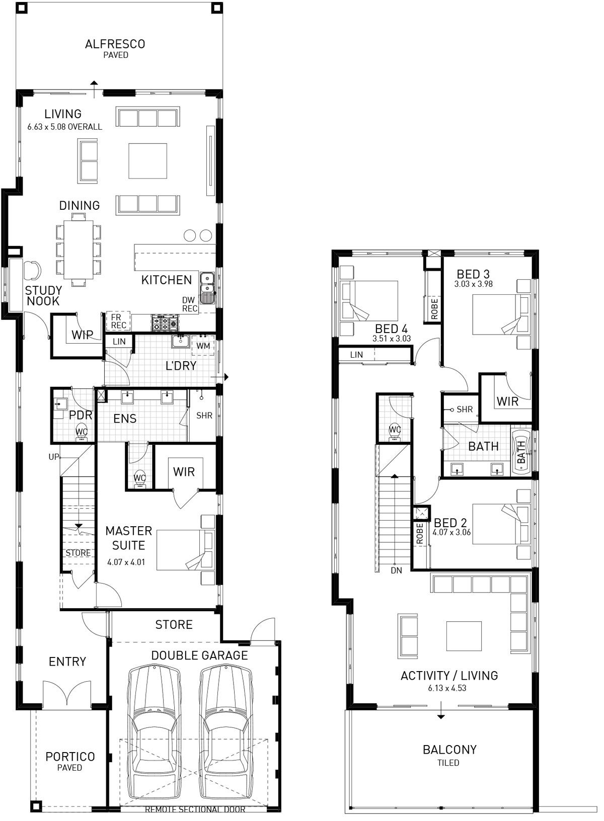 Stoneham Double Storey Floorplan Wa House Plans Australia Double Storey House Plans Two Storey House Plans